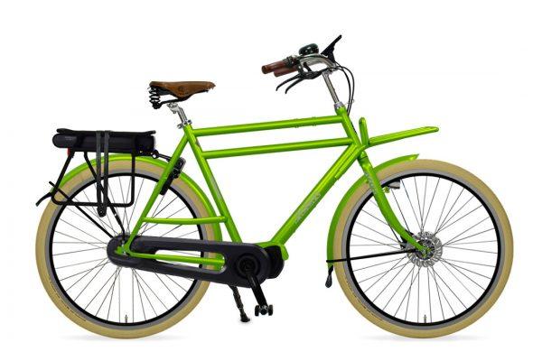 Azor Ameland E-Bike Gents Apple Green Glosse - Amsterdam Bicycle Company