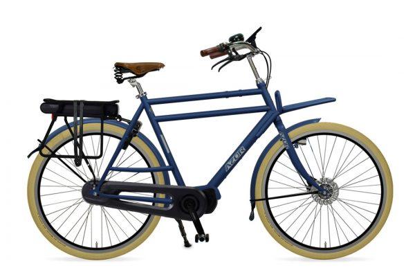 Azor Ameland E-Bike Gents Denim Blue Matte - Amsterdam Bicycle Company