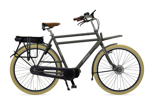 Azor Ameland E-Bike Gents Granite Grey Matte - Amsterdam Bicycle Company