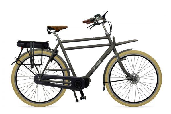 Azor Ameland E-Bike Gents Granite Grey Matte - Amsterdam Bicycle Company