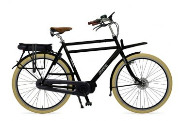 Azor Ameland E-Bike Gents High Glosse Black - Amsterdam Bicycle Company