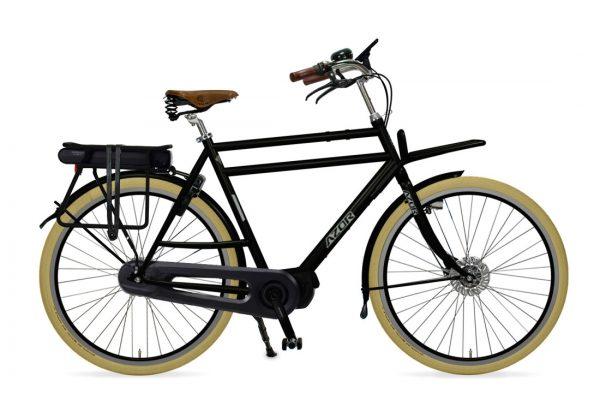 Azor Ameland E-Bike Gents High Glosse Black - Amsterdam Bicycle Company