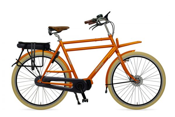 Azor Ameland E-Bike Gents Sunset Orange Glosse - Amsterdam Bicycle Company