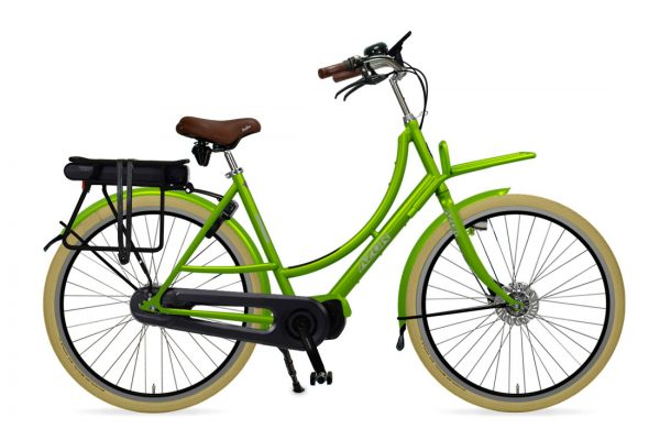 Azor Ameland E-Bike Ladies Apple Green Gloss - Amsterdam Bicycle Company