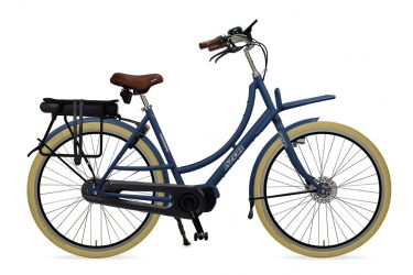 Azor Ameland E-Bike Ladies Denim Blue Gloss - Amsterdam Bicycle Company