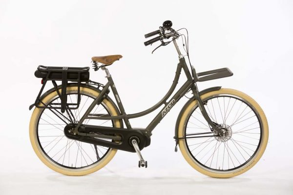 Azor Ameland E-Bike Ladies Granite Grey Matte - Premium Dutch e-bike - Amsterdam Bicycle Company