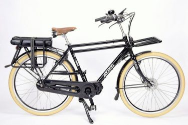 Azor Ameland E-bike Gents High Gloss Black - Premium Dutch Electric Bike - Amsterdam Bicycle Company