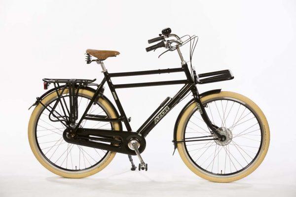 Azor Ameland Gents Black Hammered - Premium Dutch Bicycle - Amsterdam Bicycle Company