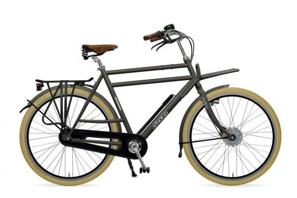 Azor Ameland Gents Granite Grey Matte 0 Amsterdam Bicycle Company