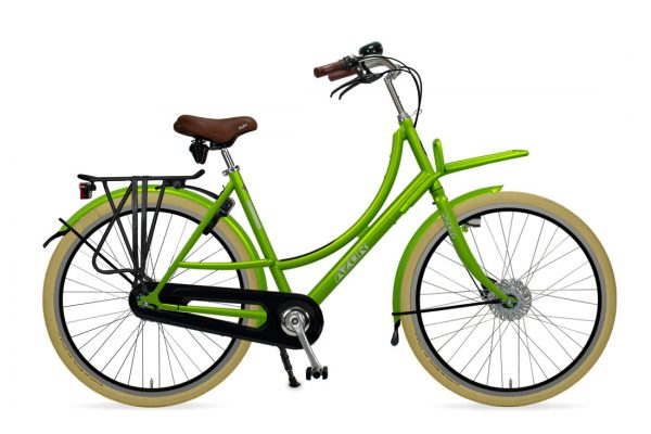 Azor Ameland Ladies Apple Green Gloss - Amsterdam Bicycle Company