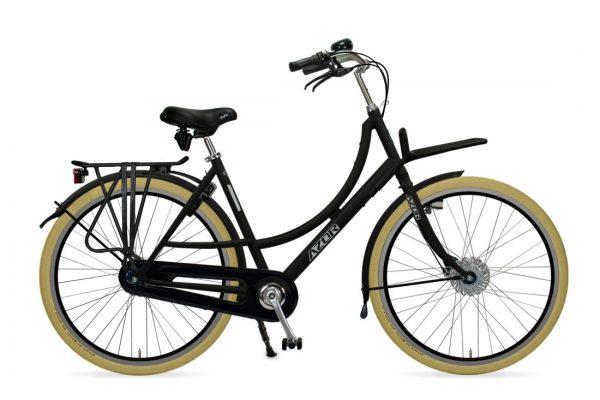 Azor Ameland Ladies Matte Black - Amsterdam Bicycle Company