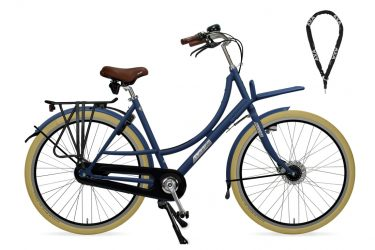 Azor Ameland Ladies Premium Stock Denim Blue Matte - Amsterdam Bicycle Company