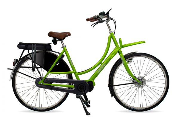 Azor Amsterdam E-Bike Ladies Apple Green Gloss - Amsterdam Bicycle Company