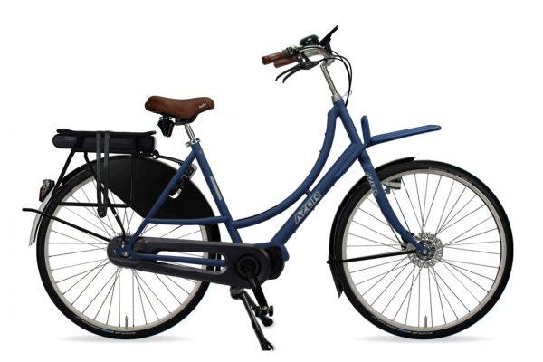 Azor Amsterdam E-Bike Ladies Denim Blue Matte - Amsterdam Bicycle Company
