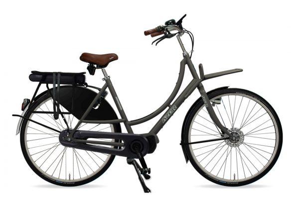 Azor Amsterdam E-Bike Ladies Granite Grey Matte - Amsterdam Bicycle Company