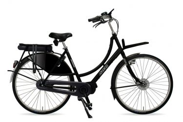 Azor Amsterdam E-Bike Ladies High Gloss Black - Amsterdam Bicycle Company