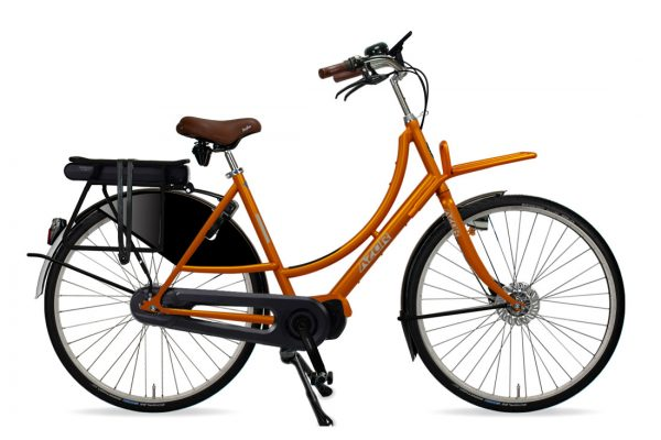 Azor Amsterdam E-Bike Ladies Sunset Orange Gloss - Amsterdam Bicycle Company