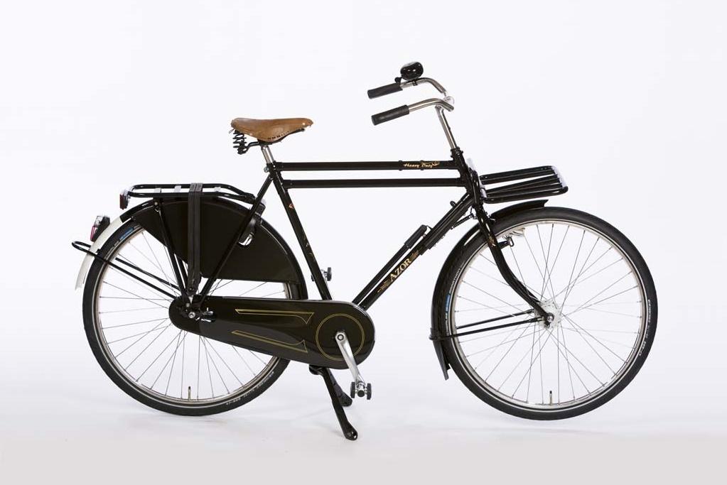Azor Amsterdam Gents High Gloss Black - Premium Nostalgic Dutch Bicycle