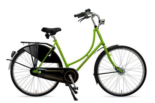 Azor Amsterdam Ladies Apple Green Gloss - Amsterdam Bicycle Company