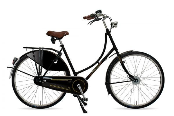 Azor Amsterdam Ladies High Gloss Black - Amsterdam Bicycle Company