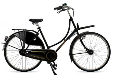 Azor Amsterdam Ladies High Gloss Black 2021 - Amsterdam Bicycle Company