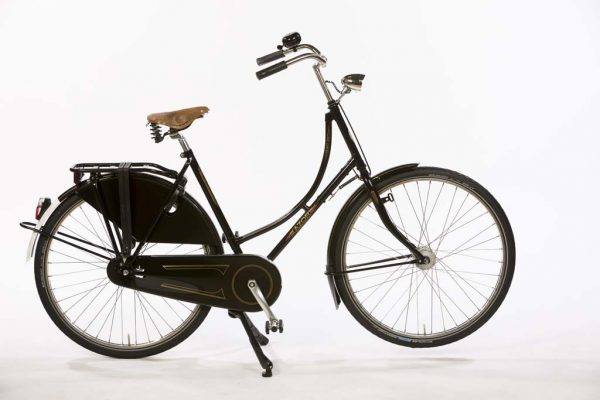 Azor Amsterdam Ladies High Gloss Black - Premium Classic Dutch Bicycle