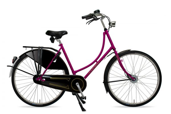 Azor Amsterdam Ladies Lollipop Violet Gloss - Amsterdam Bicycle Company