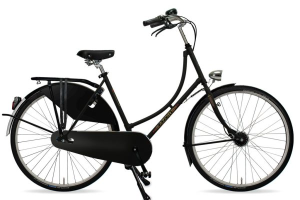 Azor Amsterdam Ladies Matte Black 2021 - Amsterdam Bicycle Company