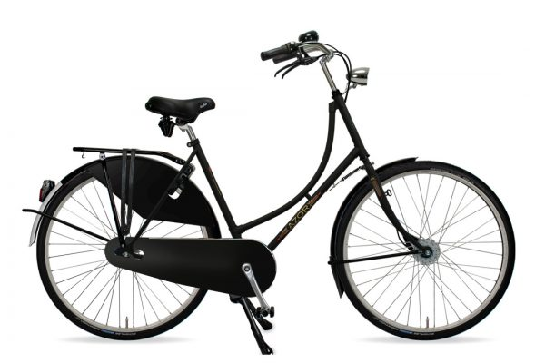 Azor Amsterdam Ladies Matte Black - Amsterdam Bicycle Company