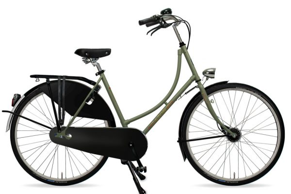 Azor Amsterdam Ladies Olive Green Matte 2021 - Amsterdam Bicycle Company