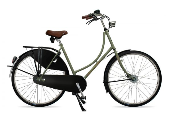 Azor Amsterdam Ladies Olive Green Matte - Amsterdam Bicycle Company