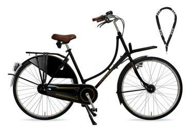 Azor Amsterdam Ladies Premium Stock High Gloss Black - Amsterdam Bicycle Company