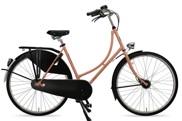Azor Amsterdam Ladies Salmon Pink Matte 2021 - Amsterdam Bicycle Company