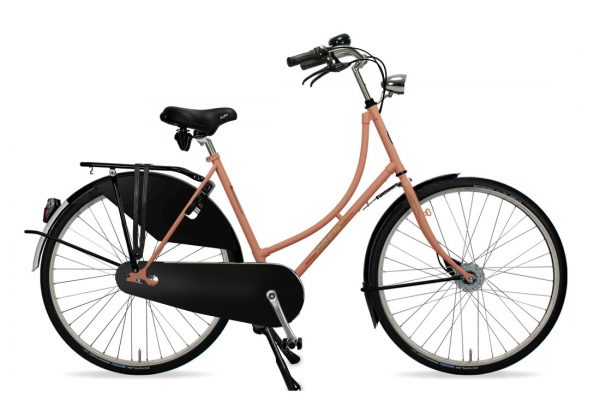 Azor Amsterdam Ladies Salmon Pink Matte - Amsterdam Bicycle Company