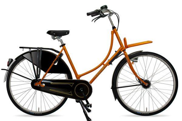 Azor Amsterdam Ladies Sunset Orange Gloss 2021 - Amsterdam Bicycle Company
