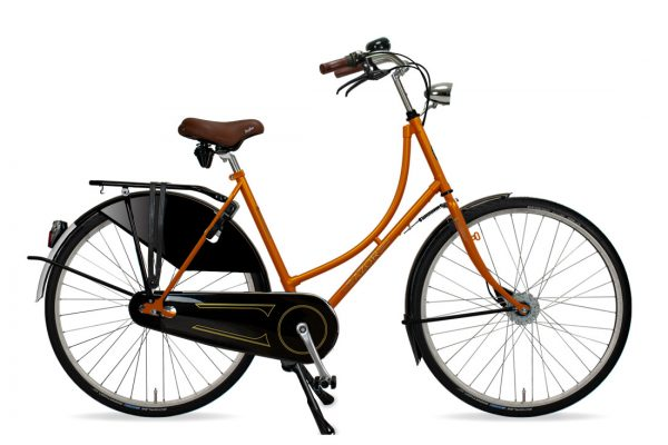 Azor Amsterdam Ladies Sunset Orange Gloss - Amsterdam Bicycle Company