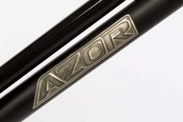 Azor Brushed Metal Transfer Down Tube - Amsterdam Bicycle Company