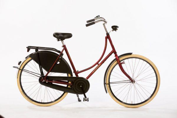 Azor Carolina Ladies Dark Red Matte - Dutch Classic Bicycle