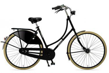 Azor Carolina Ladies High Gloss Black 2021 - Amsterdam Bicycle Company