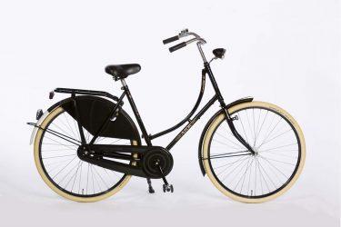 Azor Carolina Ladies High Gloss Black - Dutch Classic Bicycle