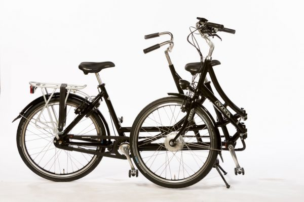 Azor Folding Tandem 26inch - Folded - Amsterdam Bicycle Company