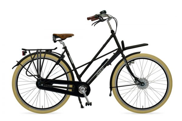 Azor Haarlem Ladies Matte Black - Amsterdam Bicycle Company