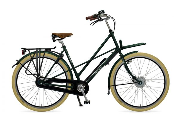 Azor Haarlem Ladies Moss Green Metallic Gloss - Amsterdam Bicycle Company