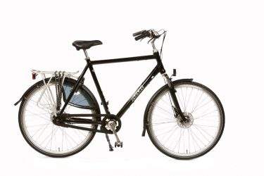 Azor Highlander Gents High Gloss Black - Premium Dutch Comfort Bicycle - Amsterdam Bicycle Company