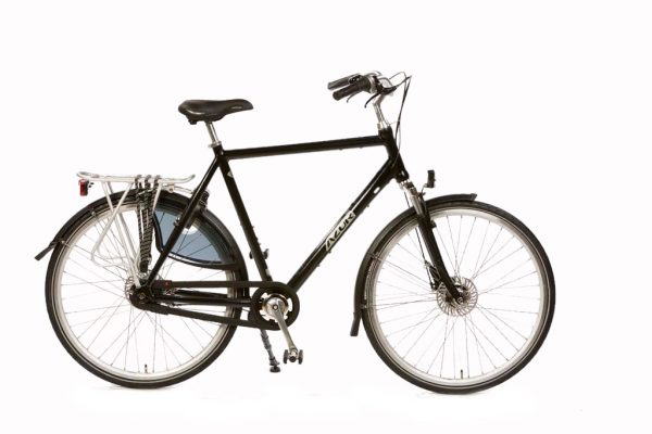 Azor Highlander Gents High Gloss Black - Premium Dutch Comfort Bicycle - Amsterdam Bicycle Company