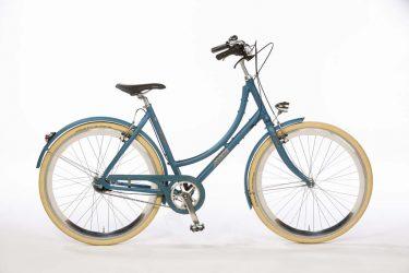 Azor IJssel Ladies Pearl Blue Metallic Matte - Amsterdam Bicycle Company
