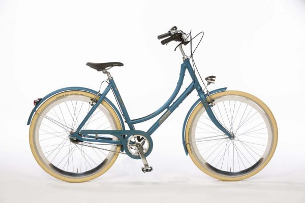 Azor IJssel Ladies Pearl Blue Metallic Matte - Amsterdam Bicycle Company