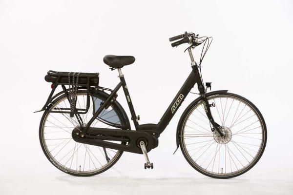 Azor Jersey E-Bike Ladies Matte Black - Basic Dutch E-bike - Amsterdam Bicycle Company