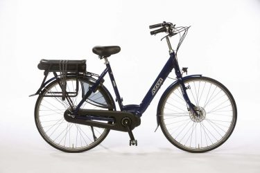 Azor Jersey E-Bike Ladies Night Blue Gloss - Basic Dutch E-Bike - Amsterdam Bicycle Company