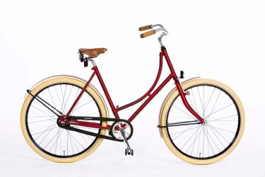 Azor Schouwen Ladies Dark Red Matte - Dutch Design Bicycle